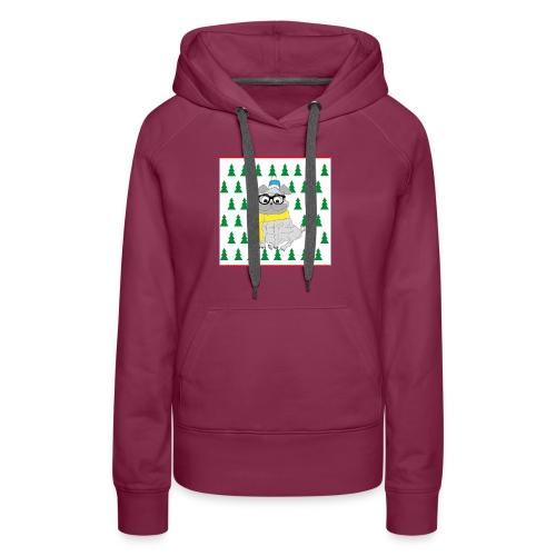 Hipster Mops - Frauen Premium Hoodie