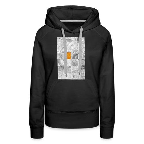 Cubes de Bois - Sweat-shirt à capuche Premium pour femmes