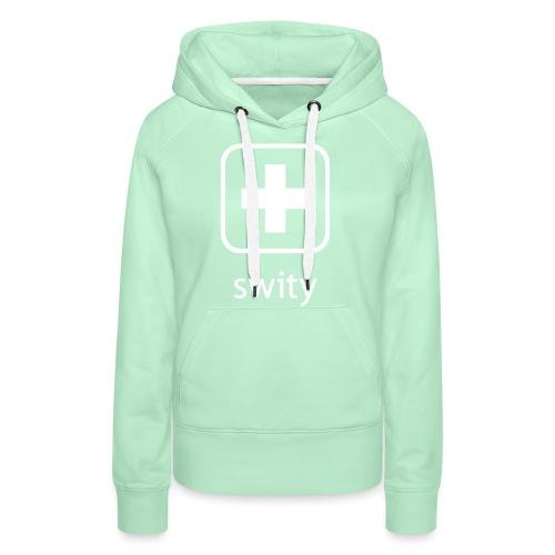 Schweizerkreuz-Kappe (swity) - Frauen Premium Hoodie