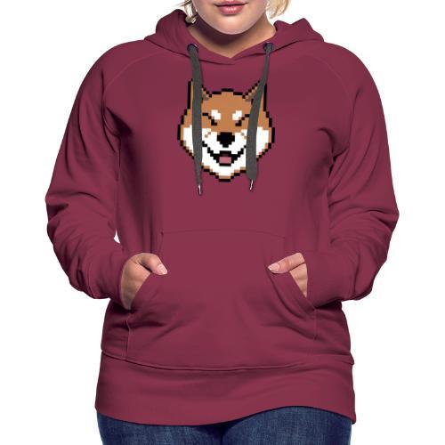 Shiba Pixel - Sweat-shirt à capuche Premium pour femmes