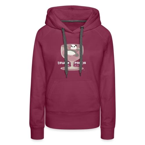 Drunk Panda - Sweat-shirt à capuche Premium pour femmes