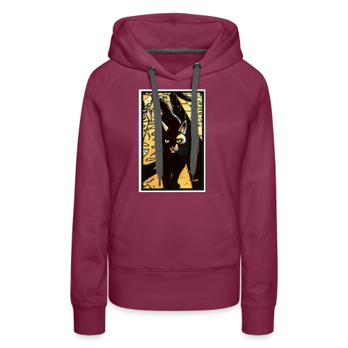 The cat from the Tale of One Bad Rat - Women's Premium Hoodie