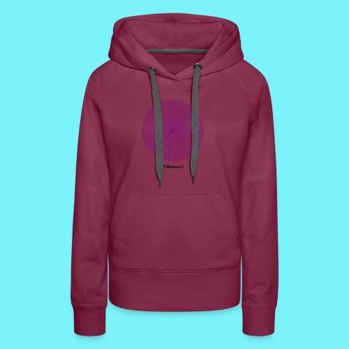Fibonacci webs in purple - Women's Premium Hoodie