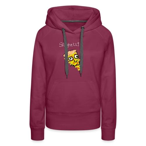 spaghetti (witte tekst) - Vrouwen Premium hoodie