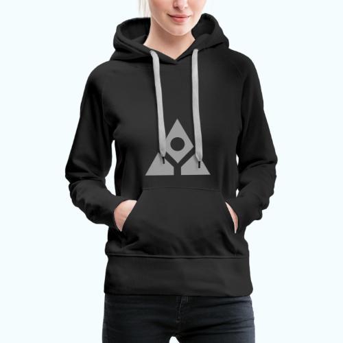 Sacred geometry gray pyramid circle in balance - Women's Premium Hoodie