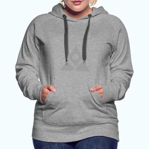 Sacred geometry gray pyramid circle in balance - Women's Premium Hoodie