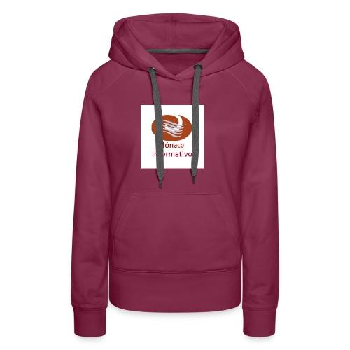 Monaco Informativo - Sweat-shirt à capuche Premium pour femmes