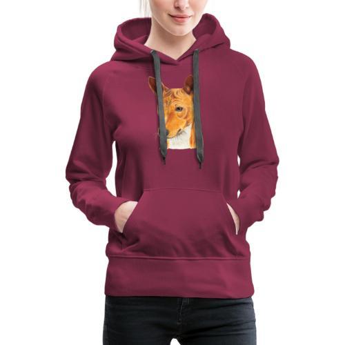 Basenji - Dame Premium hættetrøje
