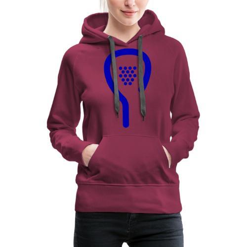 BLEU - Sweat-shirt à capuche Premium pour femmes