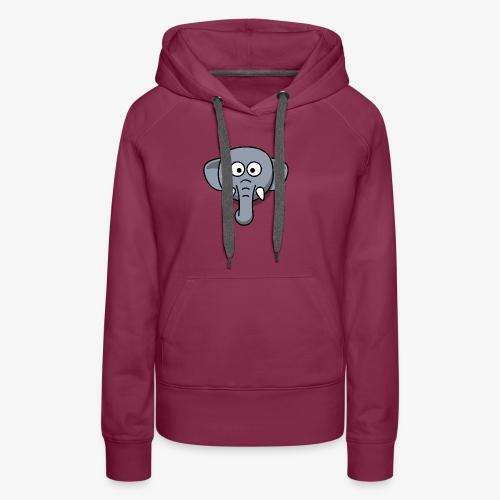 elephant - Felpa con cappuccio premium da donna