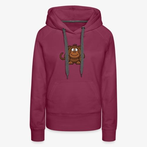 monkey - Felpa con cappuccio premium da donna