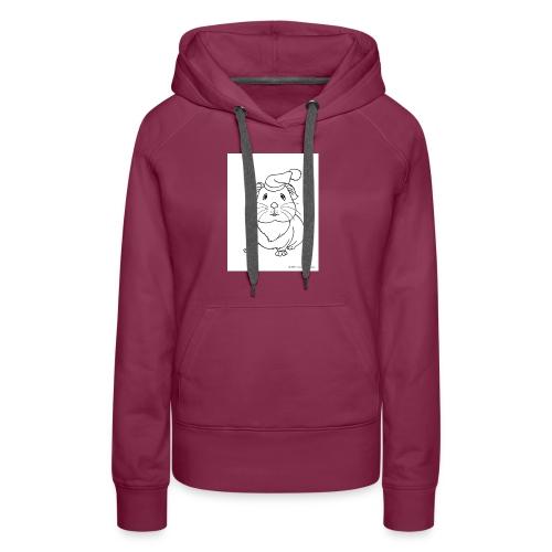 Hamster petite souris blanche guinea - Sweat-shirt à capuche Premium pour femmes
