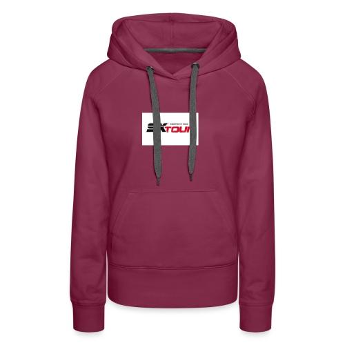 sx tour - Sweat-shirt à capuche Premium pour femmes