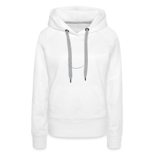White and white-blue logo - Women's Premium Hoodie