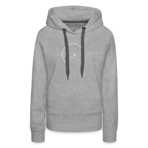 White and white-blue logo - Women's Premium Hoodie