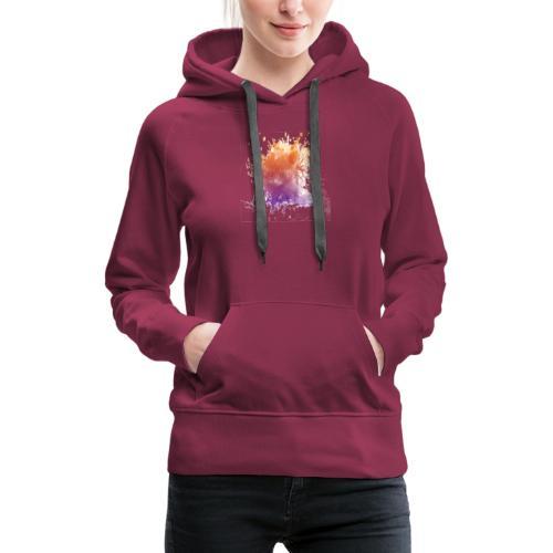 Chaton transparent - Sweat-shirt à capuche Premium pour femmes