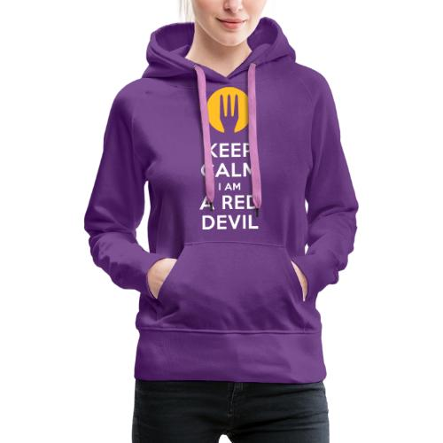 keep calm Belgique - Belgium - Belgie - Sweat-shirt à capuche Premium pour femmes