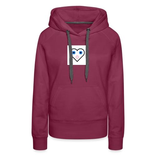 Un cœur qui cherche à exprimer sa joie. - Sweat-shirt à capuche Premium pour femmes