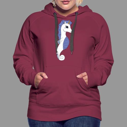 Seepferdeinhorn weiss blau - Frauen Premium Hoodie