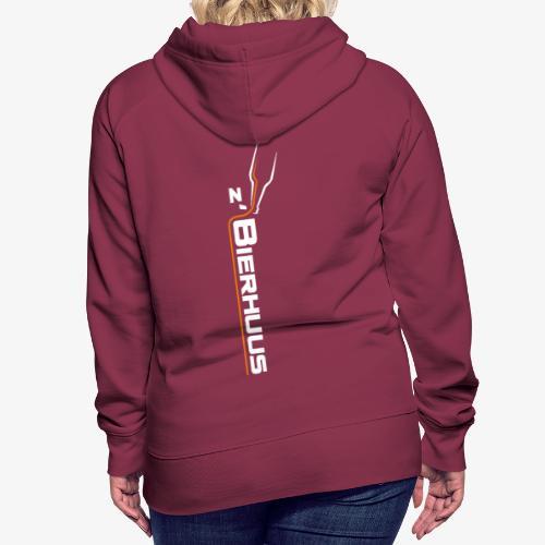z`Bierhuus Logo weiss Vertikal - Frauen Premium Hoodie