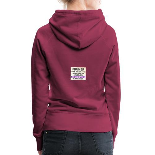 lustige sprueche menschen - Frauen Premium Hoodie