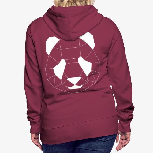 Panda Geometrisch weiss - Frauen Premium Hoodie