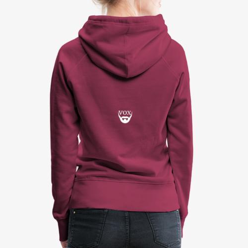 Logo Vox Bianco - Felpa con cappuccio premium da donna
