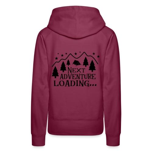 Outdoor Camping Wandern Natur Berg Geschenk Spruch - Frauen Premium Hoodie
