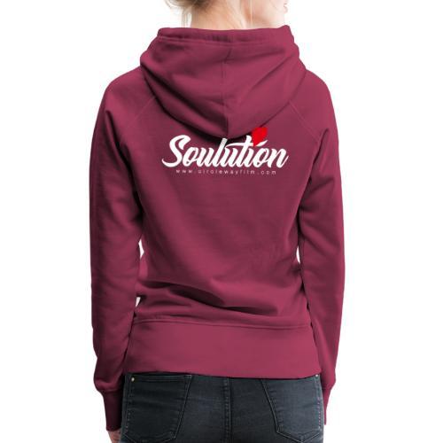 Soulution Logo – weiß - Frauen Premium Hoodie