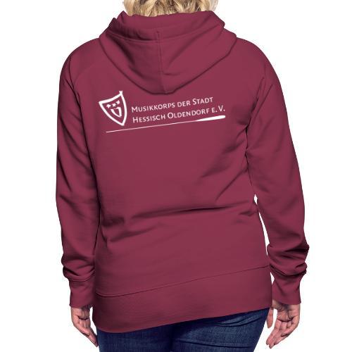 Logo weiß - Frauen Premium Hoodie