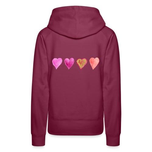 Herzen - Frauen Premium Hoodie