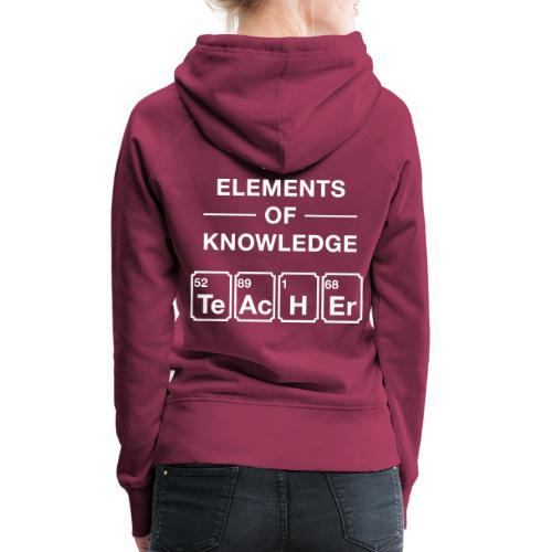 Lustig Periodensystem Lehrer Shirt Geschenk - Frauen Premium Hoodie