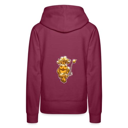 Goldene Gangster Kuh / Gold Thug Cow - Frauen Premium Hoodie