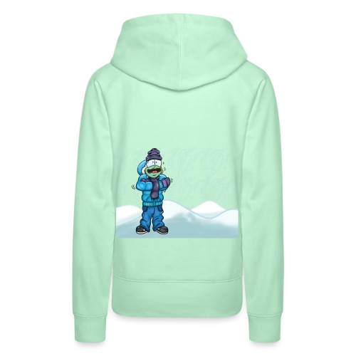 Freezing Turtle Snowboarder/Frierender Snowboarder - Frauen Premium Hoodie