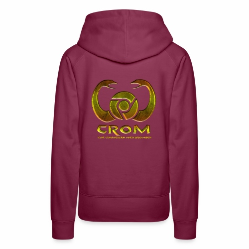 crom - Navegador web - Sudadera con capucha premium para mujer