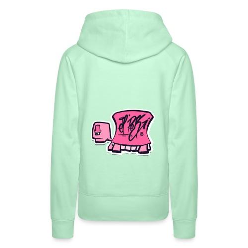 Tag turtle / Pink Schildkröte Logo - Frauen Premium Hoodie
