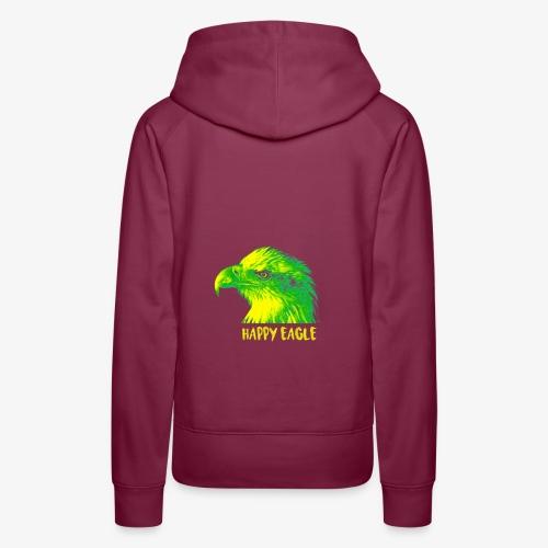 happy eagle - Sweat-shirt à capuche Premium pour femmes
