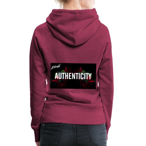 Authenticity - Sweat-shirt à capuche Premium pour femmes