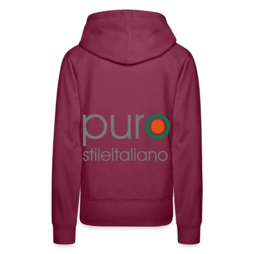 puro stile italiano - Felpa con cappuccio premium da donna