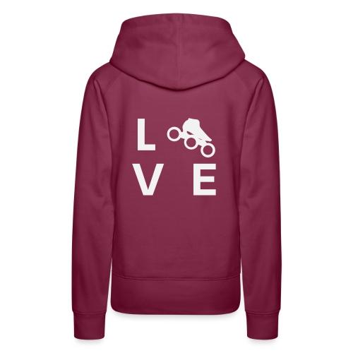 Speedskating Liebe - Frauen Premium Hoodie