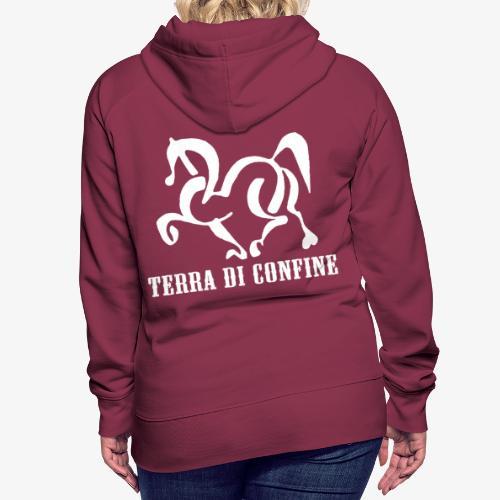 logo TDC bianco - Felpa con cappuccio premium da donna