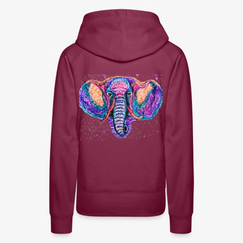 Elefante - Sudadera con capucha premium para mujer