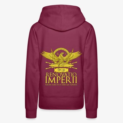Emblema Renovatio Imperii - Felpa con cappuccio premium da donna