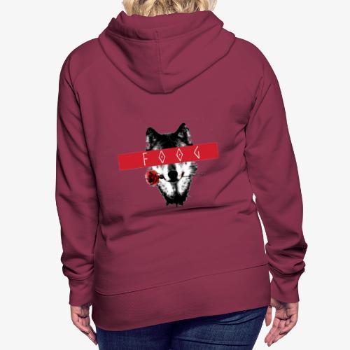 Wolf and Rose F00G - Sudadera con capucha premium para mujer