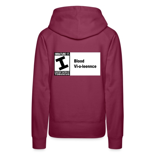blood violence rated by - Women's Premium Hoodie