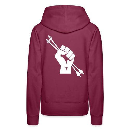 Révolution Archery Blanc - Sweat-shirt à capuche Premium pour femmes