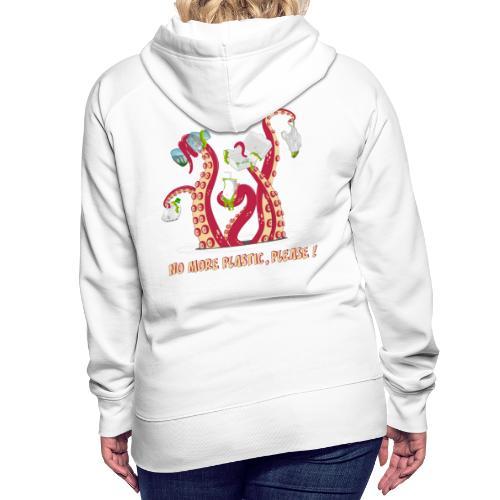 No more plastic ! - Sweat-shirt à capuche Premium pour femmes