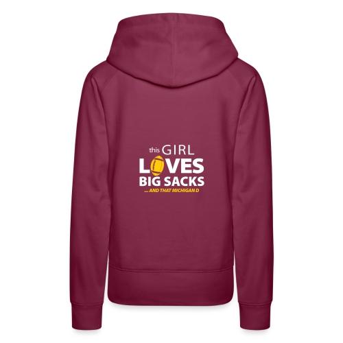 Girl Loves Big Sacks - Frauen Premium Hoodie