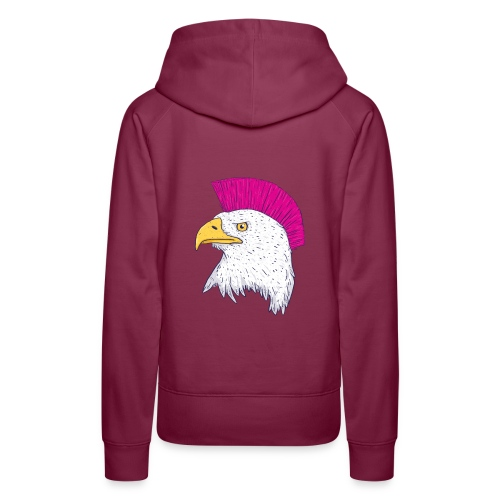 Hawk Punk Design - Sudadera con capucha premium para mujer