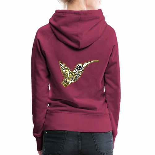Colibri tête de mort Blanc - Sweat-shirt à capuche Premium pour femmes